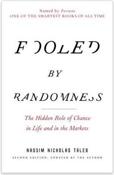 Fooled by Randomness by Nassim Nicholas Taleb book cover