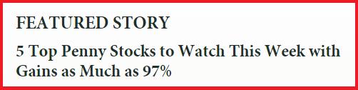 Penny Stock Advertisement Example