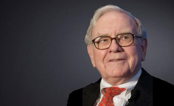 Warren Buffett Wearing a Red Tie, Looking off to the Side