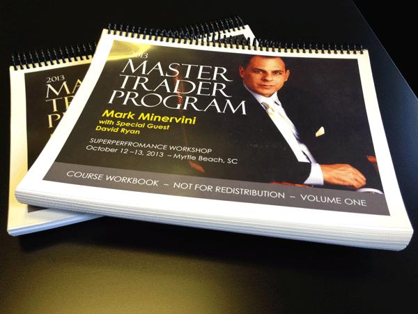 Minervini Workshop 2013 Master Trader Program WorkBooks
