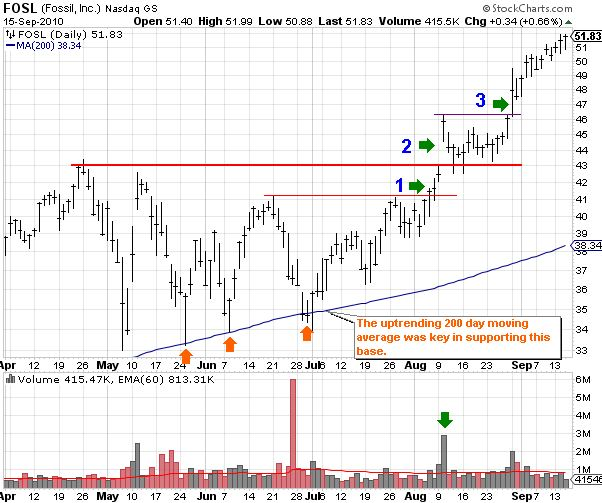 FOSL (Fossil, Inc) Daily Stock Chart for 2010