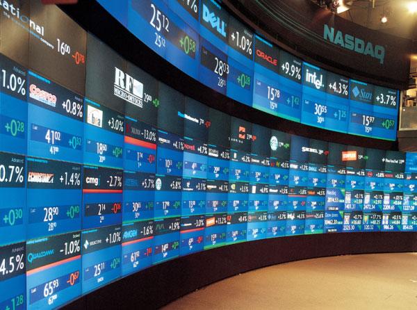 Nasdaq Stock Exchange Recording Studio Wall